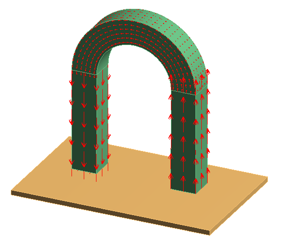 U字磁石と磁性体のモデル