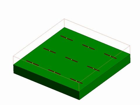 3x3配置したアンテナモデル