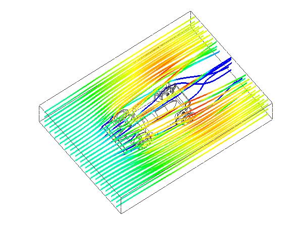 図3: 流線表示