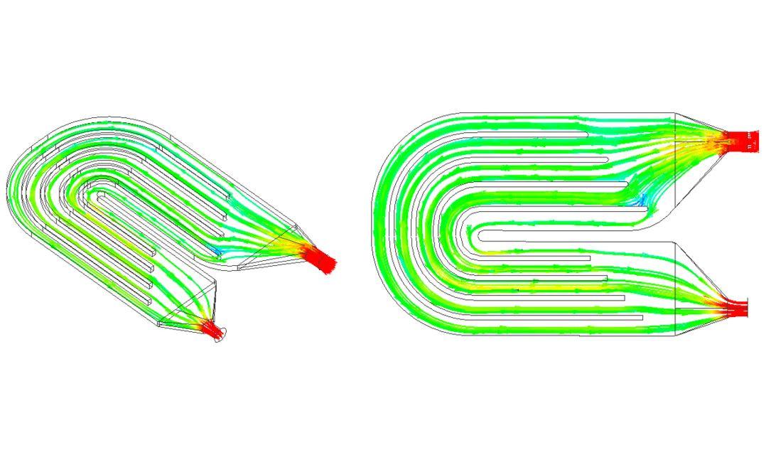 図2 流線表示(流速)