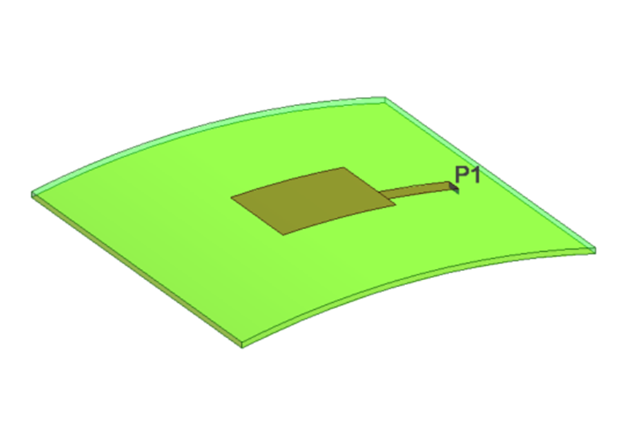 曲面をもつアンテナモデル
